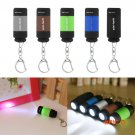 Mini Keychain Pocket Torch USB Rechargeable LED Light Flashlight Lamp 0.3W 25Lm Multicolor