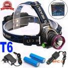 6000 Lumens CREE XM-L XML T6 LED Headlamp Headlight Flashlight Head Lamp Light + 2*18650 b
