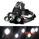 6000LM 3x CREE XM-L T6 LED 18650 Headlamp Headlight Head Torch Light Lamp for Outdoor Spor