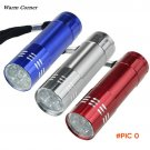 Warm Corner 1PC High Quality Nine Small Light LED Waterproof Flashlight  Light Lamp Sports