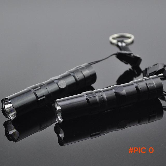 2pcs Mini Free shipping Waterproof Flashlight Gift LED penlight flashlight super light com