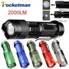 Mini FlashLight CREE Q5 Lumens 3 Modes LED Flashlight Adjustable Focus Lantern Portable Li