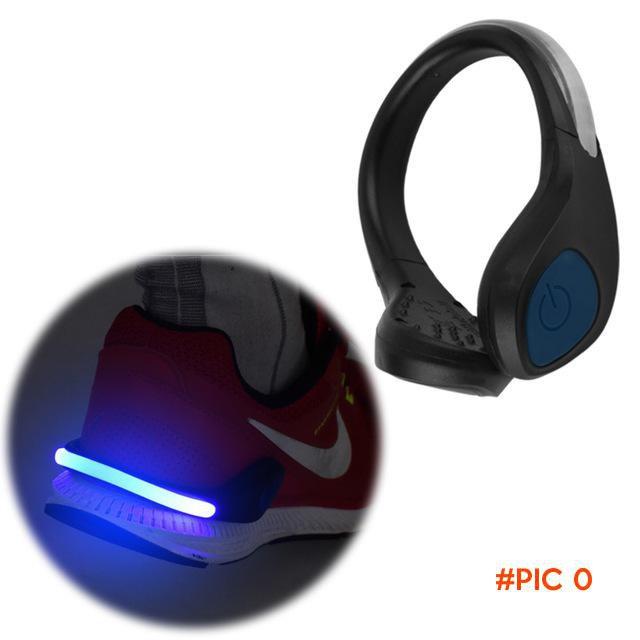 2016 New Hot Bright Luminous LED Shoe bike Light Clip Warning Lamp fits Night Walking Runn