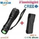 zk30 e17 CREE XM-L T6 4000 Lumens High Power LED torch flashlight Focus lamp Zoomable ligh