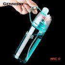 Bottle 400ml/600ml Creative Water Spray Cup Sports Riding A Spray Plastic Water Bottle Spa