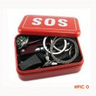 New SOS Emergency Survival Kit Equipment Outdoor Camping Hiking Box Knife Multifunction To