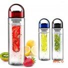 700ML Flesh Fruit infuser infusing My Better Water Bottle Sports Health Lemon Juice Make B