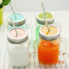 Summer Cold Drink Infusion Bottle with straw Ice cream Fruit Installed Water Bottles Mason