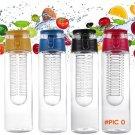 2016 Portable 800ML Fruit Infusing Infuser Water Sports Lemon Juice Bottle Flip Lid for ki