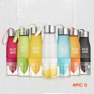 7Colors Frosted Leak-proof Plastic Cup 650ml Lemon Cup H2O Portable Sports Water Bottle Fo