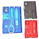 New Handy Multifunctional Travel Outdoor Survival Camping Tool Card Knife LED Light Magnif