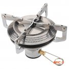 New Portable Stainless Steel Camp Collapsible Bracket Gas Stove Burner Outdoor Picnic Barb