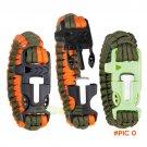 4 in 1 Flint Fire Starter Whistle,Outdoor Camping Survival Gear Buckle Travel Kit Equipmen