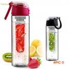 700ML-800ML Water Bottle Flesh Fruit Infuser Infusing Sports Health Lemon Juice Make Bottl