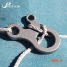 5Pcs 3 Holes Stainless Steel Fast Camp Knot Tool Outdoor Survival Kit Equipment Paracord B