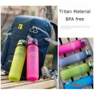 Uzspace Tritan Water Bottle BPA Free Plastic Cup For Sports Outdoor Camping 500 ML Creativ