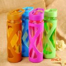 2016 New Seal Straw Sport Water Bottle Anti Hot With A Plastic Sleeve Drink Bottles Eco-fr
