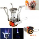 Stove Gas Outdoor Cocina Camping Hiking Equipment Stoves Portable Folding Propane Flame Mi