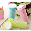 wholesale cup Portable plastic cup women double frosted Thermos mug Travelling Tea bottle