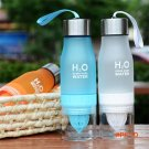 650ml New Lemon Cup Water Bottle Multi-color H2O Drink More Water Brief Creative Plastic C