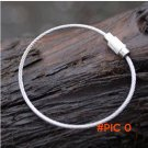 1pcs EDC camping equipment High Quality Metal 110mm Wire Circle Keychain Stianless Steel R