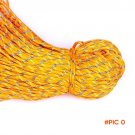Orange Paracord 550 Paracord Parachute Cord Lanyard Rope Mil Spec Type III 7Strand 25FT Cl