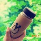 Plastic Inexpensive Cartoon Brown Bear Sally Chicken Water Bottle 500ml With Bag Sport Lem