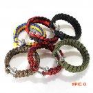 6 Colors Self-rescue Adjustable Paracord Survival Bracelet 7 Strand Handmade Weave Parachu