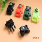 3 in 1Flint Compass Fire Starter Whistle Buckle, Multifunction Camping Outdoor Survival Es