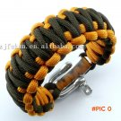 free shipping adjustable zinc alloy shackle king cobra weaving 550 survival paracord bracelet BC58
