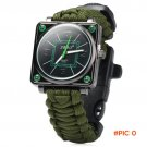 Survival Bracelet Paracord Outdoor Watch with Survival Compass Whistle Fire Starter Watchb