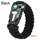 Survival Bracelet Flint Fire Starter Gear Escape Paracord Whistle Cord Buckle Camping Brac