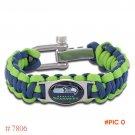 NFL Seattle Seahawks Paracord Bracelet Adjustable Survival Bracelet Football Bracelet , Dr