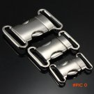 """Hot Sale 20mm/25mm/30mm Side Quick Release 3/4"""" Zinc Alloy Contoured Curved Buckle DI"""