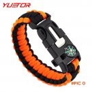Brand YUETOR emergency rescue rope compass flint fire starter survival parachute rope for