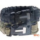 Outdoor Camping & Hiking Survival Bracelet Kits Paracord Cord Wristbands Emergency Rop