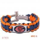NFL Chicago Bears Paracord Bracelet Adjustable Survival Bracelet Football Bracelet , Drop
