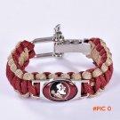 Florida State Seminoles Custom Paracord Bracelet NCAA College Football Bracelet Survival B