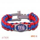NFL New York Giants Paracord Bracelet Adjustable Survival Bracelet Football Bracelet , Dro