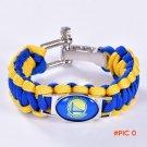Golden State Basketball Team Paracord Bracelet Survival Bracelet, Drop Shipping! 6Pcs/lot! BC285