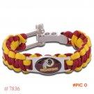 NFL Washington Redskins Paracord Bracelet Adjustable Survival Bracelet Football Bracelet ,