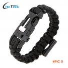 New Paracord Bracelet Outdoor Travel Emergency Quick Release Survival Bracelet with Flint