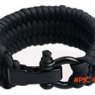 Trilobite Extra Beefy Paracord Survival Bracelet with Stainless Steel Black Bow Shackle Ad
