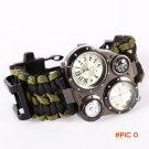 Survival Bracelet Flint Fire Starter Gear 6 in 1 Survival Flint Fire Starter Survival Gea