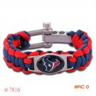 NFL Houston Texans Paracord Bracelet Adjustable Survival Bracelet Football Bracelet , Drop