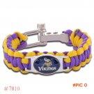 NFL Minnesota Vikings Paracord Bracelet Adjustable Survival Bracelet Football Bracelet , D