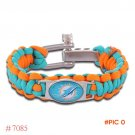 NFL Miami Dolphins Jets Paracord Bracelet Adjustable Survival Bracelet Football Bracelet ,