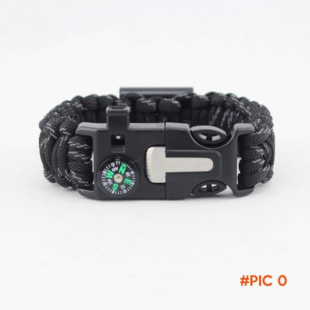 Military Bracelet Flint Whistle Lanyard Outdoor Safety Supplies Multi-function Outdoor Sur