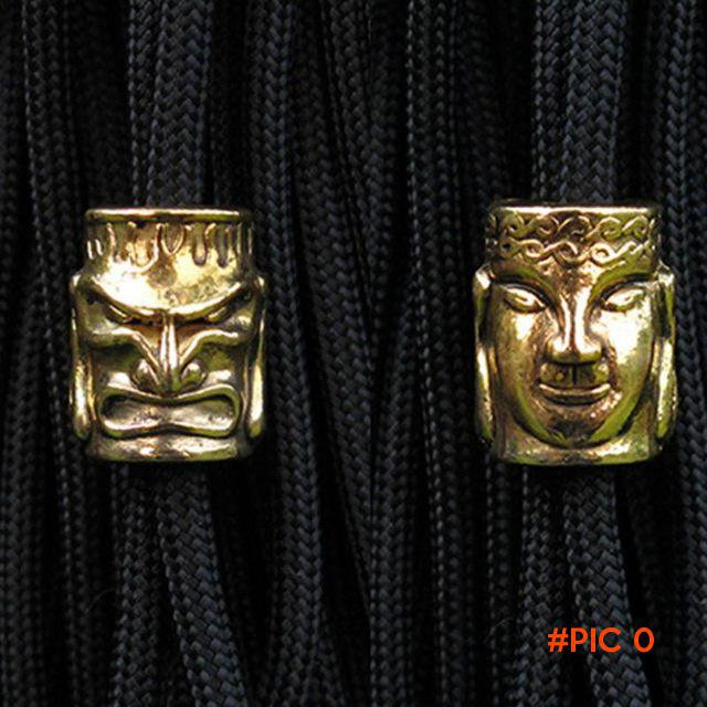 10pcs Paracord Beads Metal Charms Skull For Paracord Bracelet Accessories Survival DIY Pen