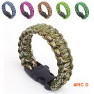 Hiking Sport Parachute Cord Wristbands Emergency Rope Whistle Emergency Paracord Survival